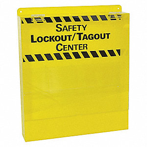 Safety Lockout/Tagout Center,17 In H