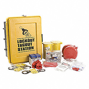 "Lockout/Tagout Center, Filled, Electrical/Valve Lockout, 17-1/8"" x 13-1/2"""