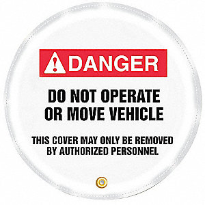 Danger Sign,20 x 20In,R and BK/WHT,Vinyl