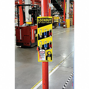 "Lockout/Tagout Center, Unfilled, 24"" x 7-7/8"""