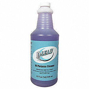 All Purpose Cleaner, 32 oz. Bottle, Unscented Liquid, 5 pts water to 1 pt D-Lead® All Purpose Cleane