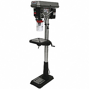 "3/4 Motor HP Floor Drill Press, Belt Drive Type, 15"" Swing, 115/230 Voltage"