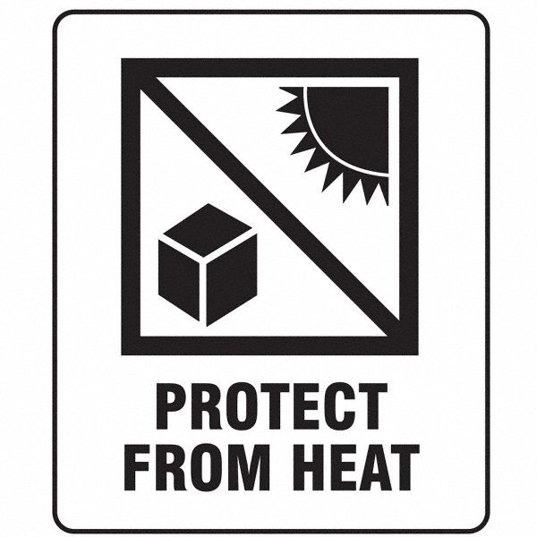 GRAINGER APPROVED Shipping Labels, Protect From Heat