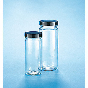 Wide Mouth Straight Side Round Jar, Glass, Clear, 12 PK