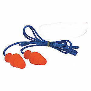 Ear Plugs,Reusable,25dB,Orange,PK100