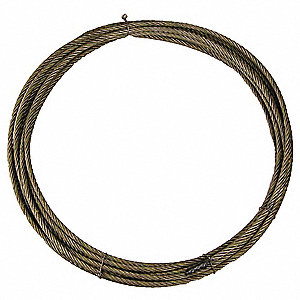 100 ft. Carbon Steel Wire, Bright Winch Cable with 4800 lb. Working Load Limit