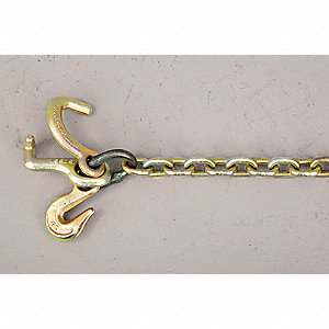 "Auto Tie-down Chain,5/16"",4700Lb,4Ft"