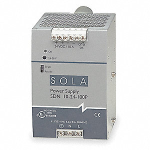 DC Power Supply, Style: Switching, Mounting: DIN Rail/Chassis