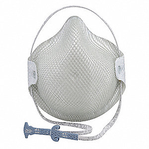 N95 Disposable Particulate Respirator, White, S, 15PK
