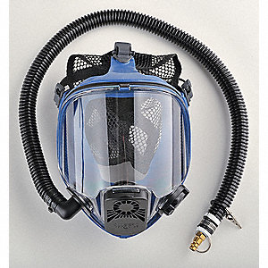 ALLEGRO Full Face Respirator, 5 pt. with Mesh Headnet Full Face Suspension Type, Mask Size: Universa