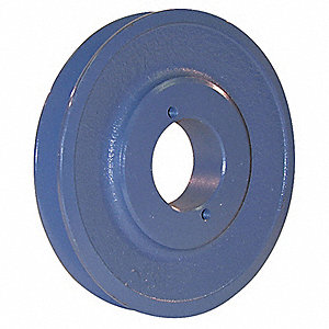 "V-Belt Pulley,SplitTpr,5.45""OD,Cast Iron"