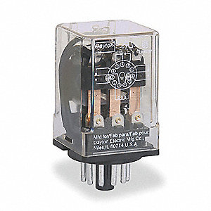 Plug In Relay, 11 Pins, Octal Base Type, 10A @ 277VAC/30VDC Contact Rating, 120VAC Coil Volts