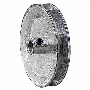 "V-Belt Pulley,1/2""Fixed,3.5""OD,Zamak3"