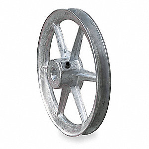 V-BELT PULLEY,6 IN OD,1/2 IN BORE,1