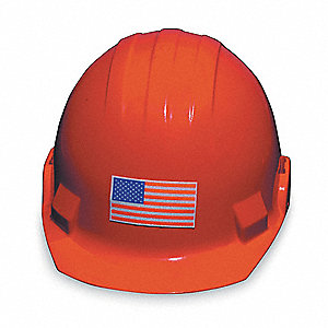 "Hard Hat Label,  Pictogram Only,  1-9/16"" Height,  3"" Width,  PK 5"