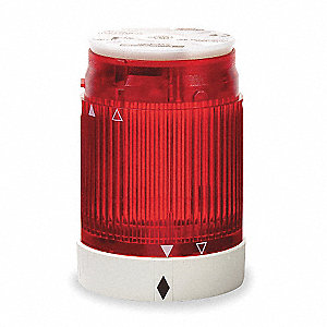 240VAC Incandescent or LED Tower Light Module Steady with 50mm Dia., Red