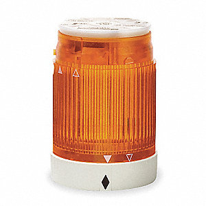 240VAC Incandescent or LED Tower Light Module Steady with 50mm Dia., Amber