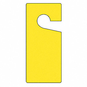 "Blank Tag, Yellow, Height: 9"" x Width: 4"", 10 PK"
