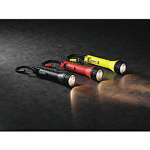 Industrial Incandescent Handheld Flashlight, Nylon, Orange