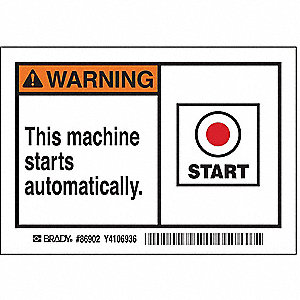 Machine/Equipment Label,PK5
