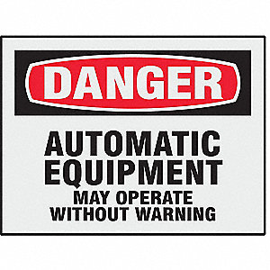 Safety Label,3-1/2 In. H,5 In. W,PK8