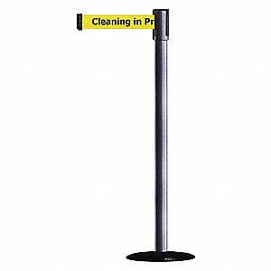 Barrier Post with Belt,Gray