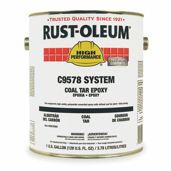 Matte Finish Epoxy : Rust oleum black coal tar epoxy coating matte finish