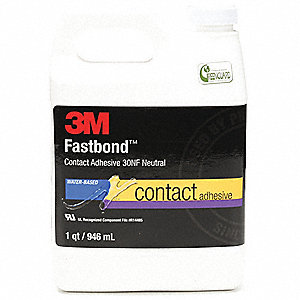 1 qt. Nonflammable, Water Based Fastbond(TM) Contact Adhesive, Neutral