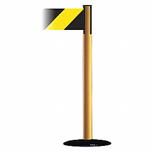 Barrier Post with Belt,Yellow