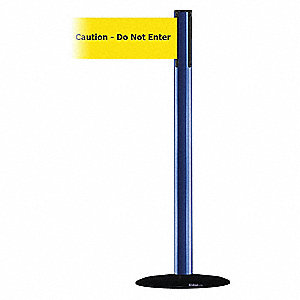 Barrier Post with Belt,Blue
