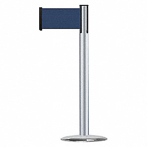 Barrier Post with Belt,7-1/2 ft. L