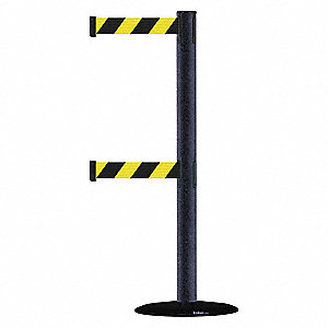Barrier Post with Belt,Texture Black
