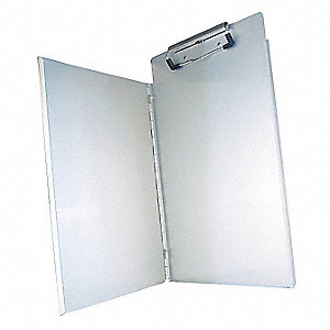 Letter-Size Clipboard with High Capacity Clip, Aluminum, Silver