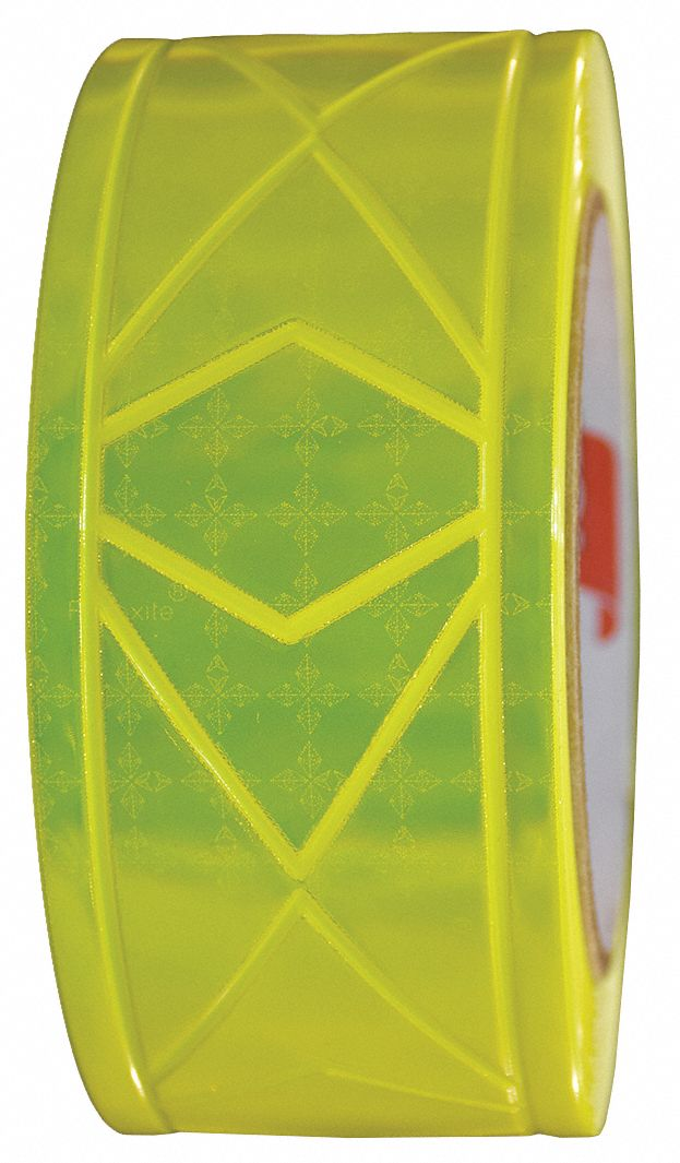 Lime Green Reflective Clothing Tape, Width 2 in, Length 25 ft