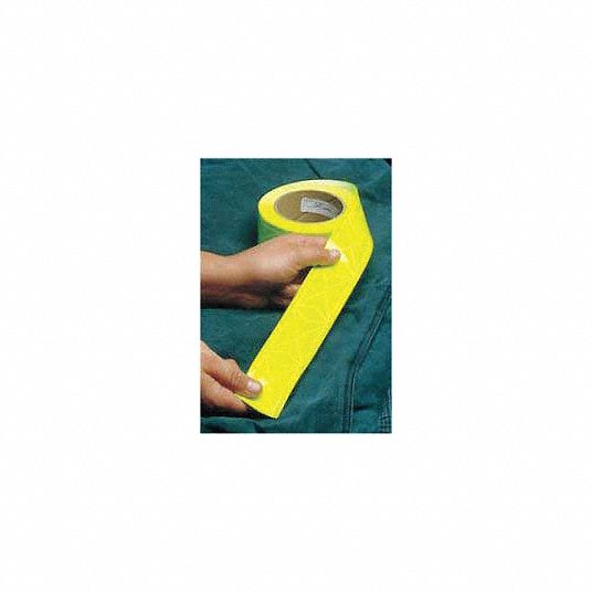 White Reflective Clothing Tape, Width 1 3/8 in, Length 300 ft