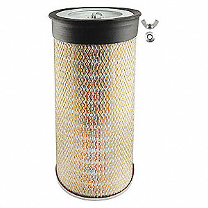 "Air Filter, Round, 18-1/2"" Height, 18-1/2"" Length, 9-1/8"", Boot 9-3/4"" Outside Dia."