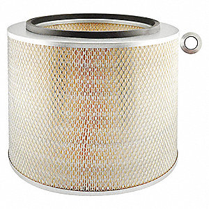 "Air Filter, Round, 12-21/32"" Height, 12-21/32"" Length, 13-13/16"" Outside Dia."