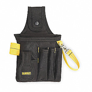 "Electricians Tool Holder, Black/Yellow Ballistic Poly, 12-1/2"" Height, 6-1/2"" Width, 2-1/4"" Depth"
