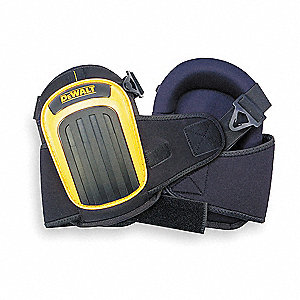 Stabilizer 2-Strap Knee Pads, Black/Yellow