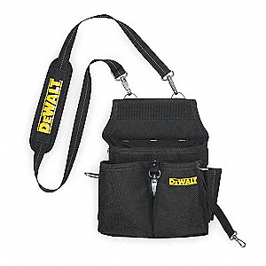 Black/Yellow Electricians Tool Pouch, Ballistic Poly, Fits Belts Up To (In.): 2-3/4
