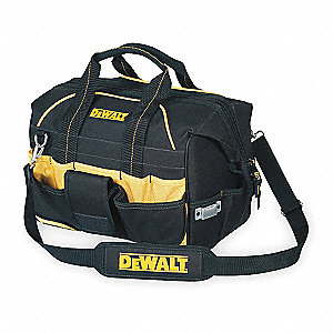 Polyester Tool Bag, General Purpose, Number of Pockets: 32, Black/Yellow
