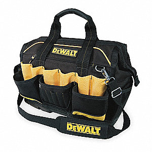Polyester Tool Bag, General Purpose, Number of Pockets: 33, Black/Yellow