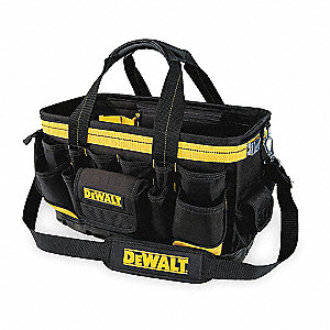 Polyester Tool Bag, General Purpose, Number of Pockets: 27, Black/Yellow