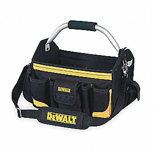 Polyester Tool Bag, General Purpose, Number of Pockets: 23, Black/Yellow