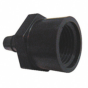 Female Adapter,3/16x1/4 In,PP,PK10