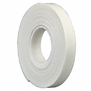 Double Coated Tape,1 In x 5 yd.,White
