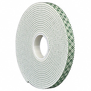 Double Coated Tape,1/2In x 5 yd.,Natural