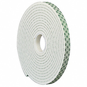 Double Coated  Tape,1/2 In x 5 yd.