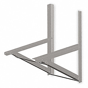 Wall Mounting Bracket,2 Hx22 Wx36 In L