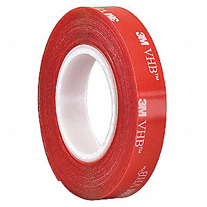 "1/2"" x 5 yd. Solid Foam Double Sided VHB Tape, 20 mil, Clear, 1EA"